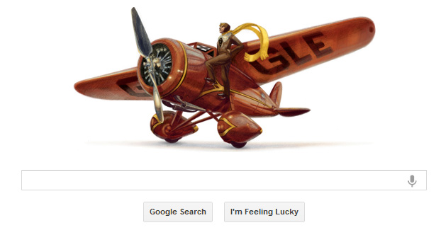 Amelia Earhart 115 year old today Google represents